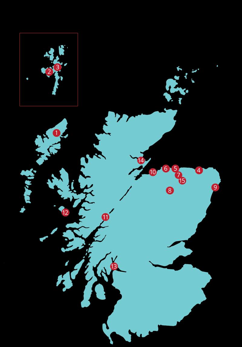 Bothy Bistro Stockists Map